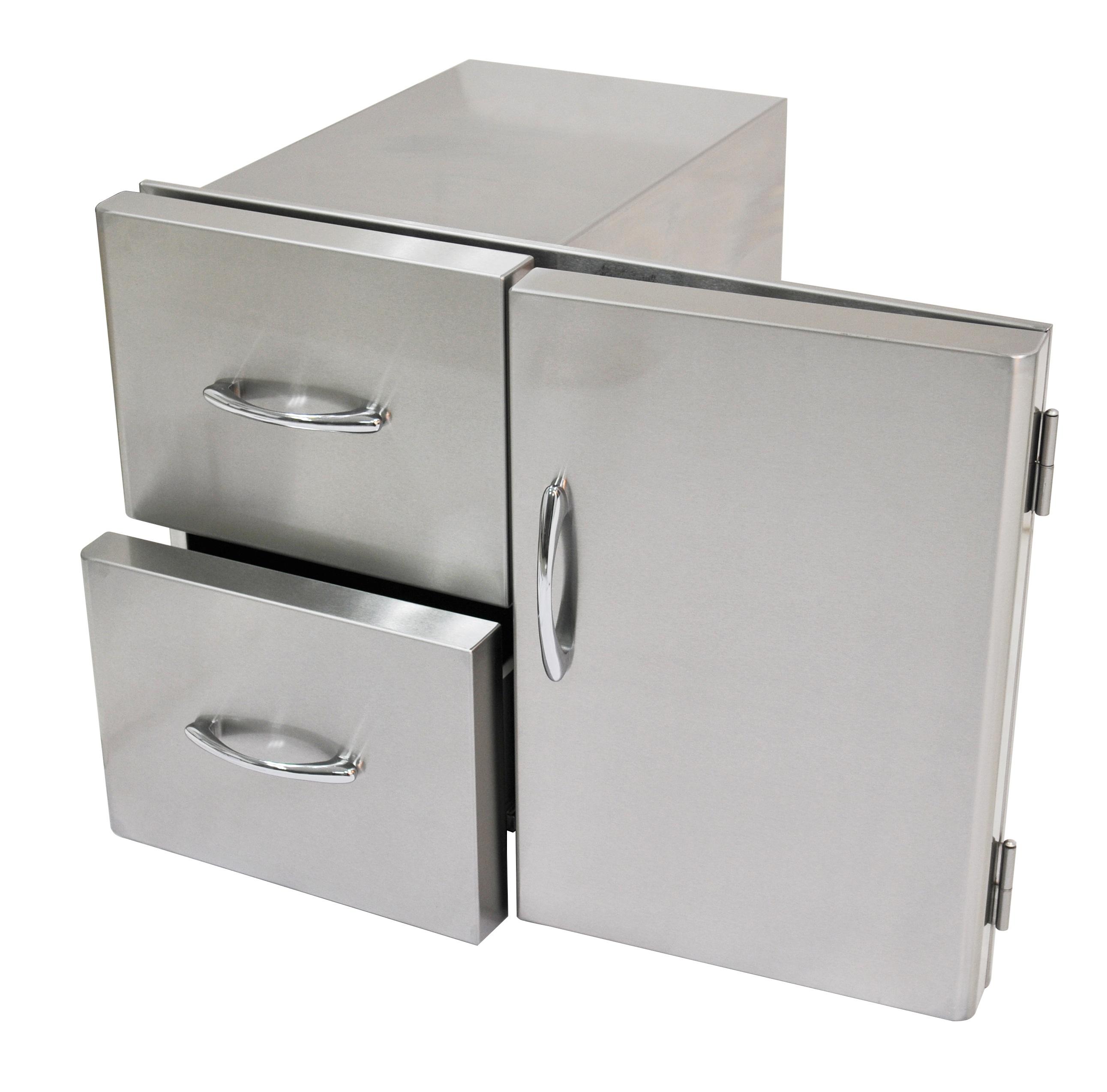 Stainless Steel Door : Built in additions stainless steel door and drawers