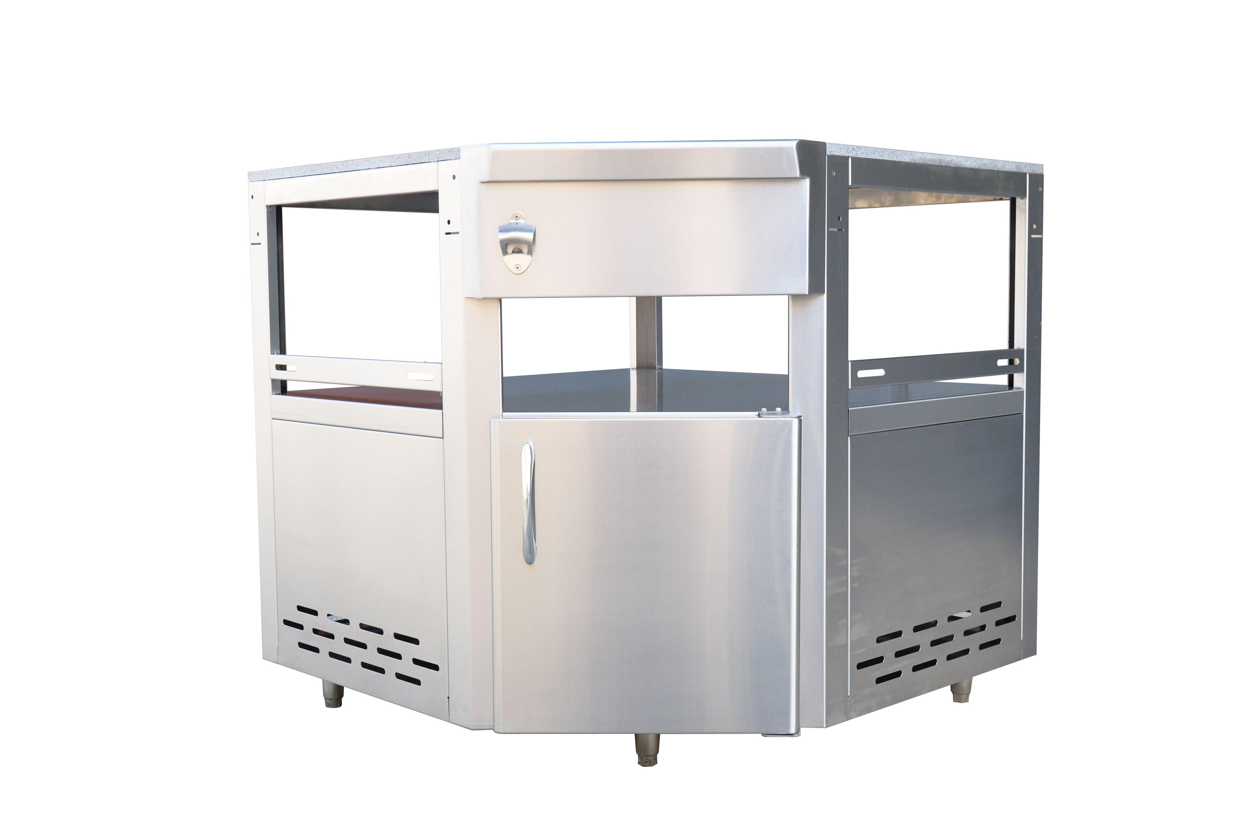 Outdoor kitchen module kamado grill corner unit grandfire bbq