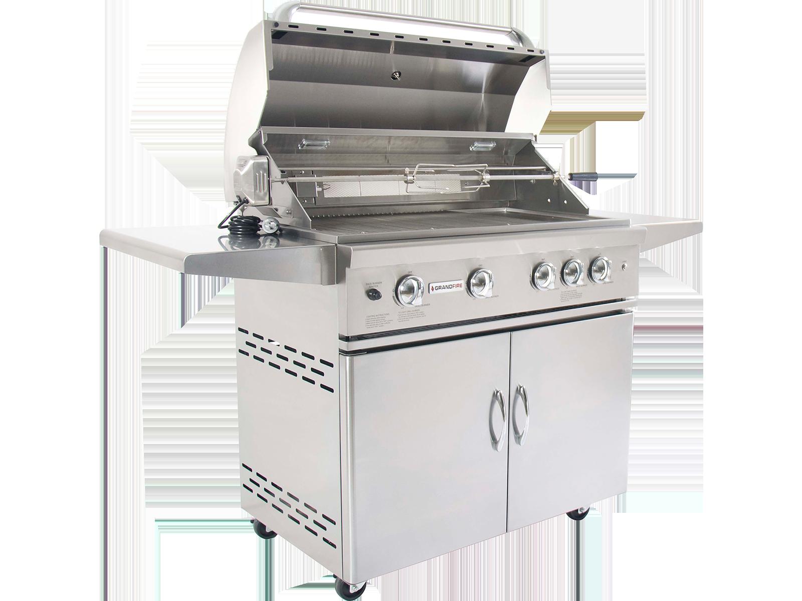 Outdoor bbq kitchen and modular kitchen units grandfire for Outdoor bbq kitchen units