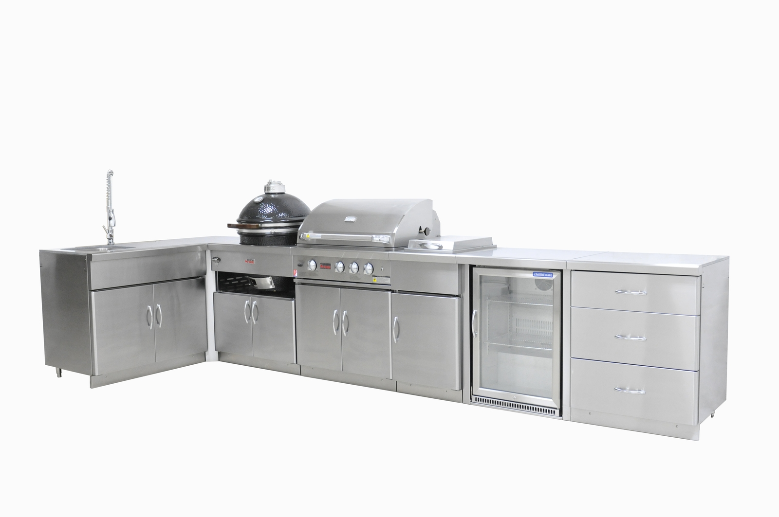 Outdoor Kitchen Package - Package with Single Fridge - Grandfire BBQ