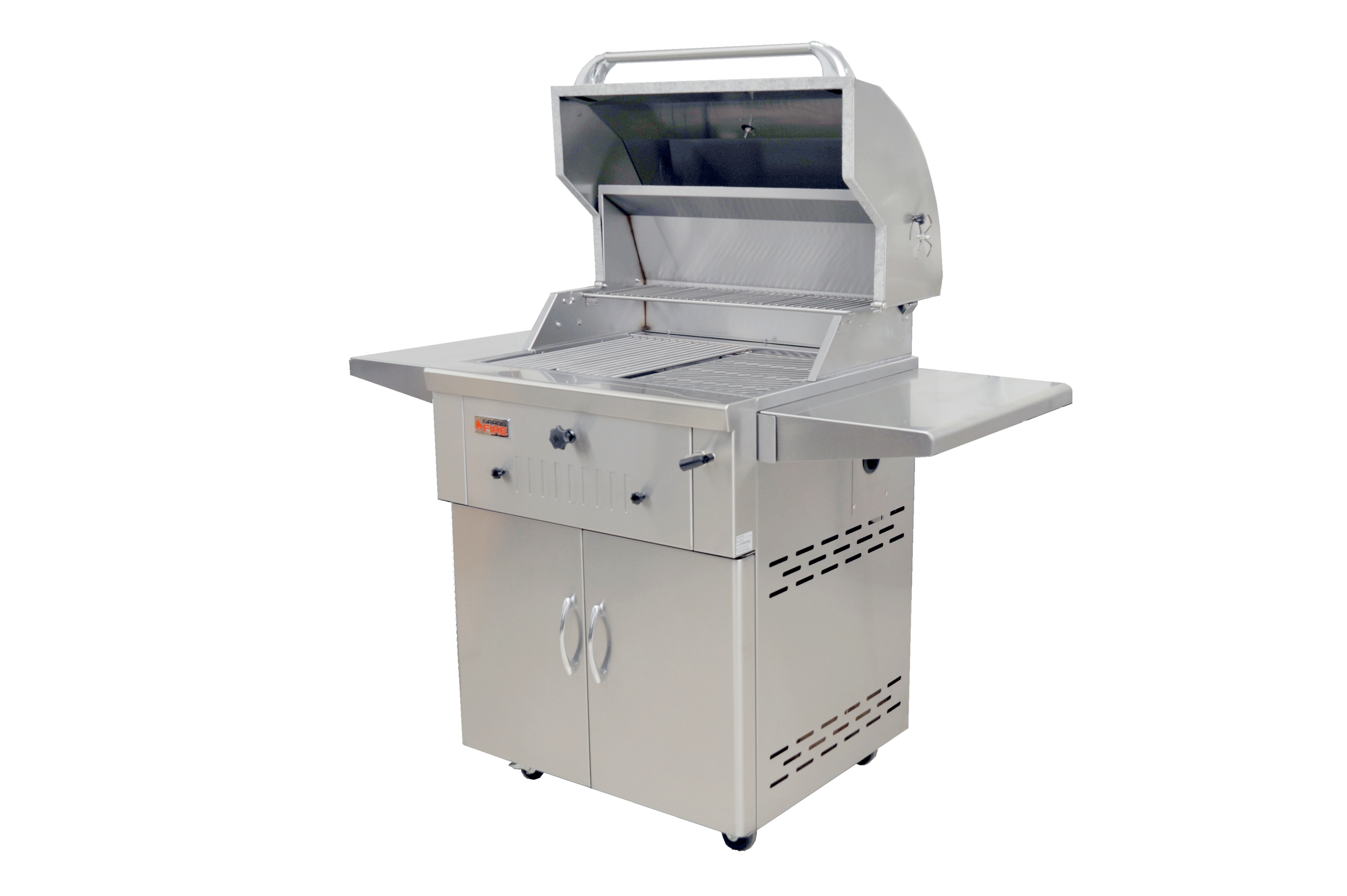 """Deluxe 30"""" SS Charcoal BBQ on SS Cart (2)"""