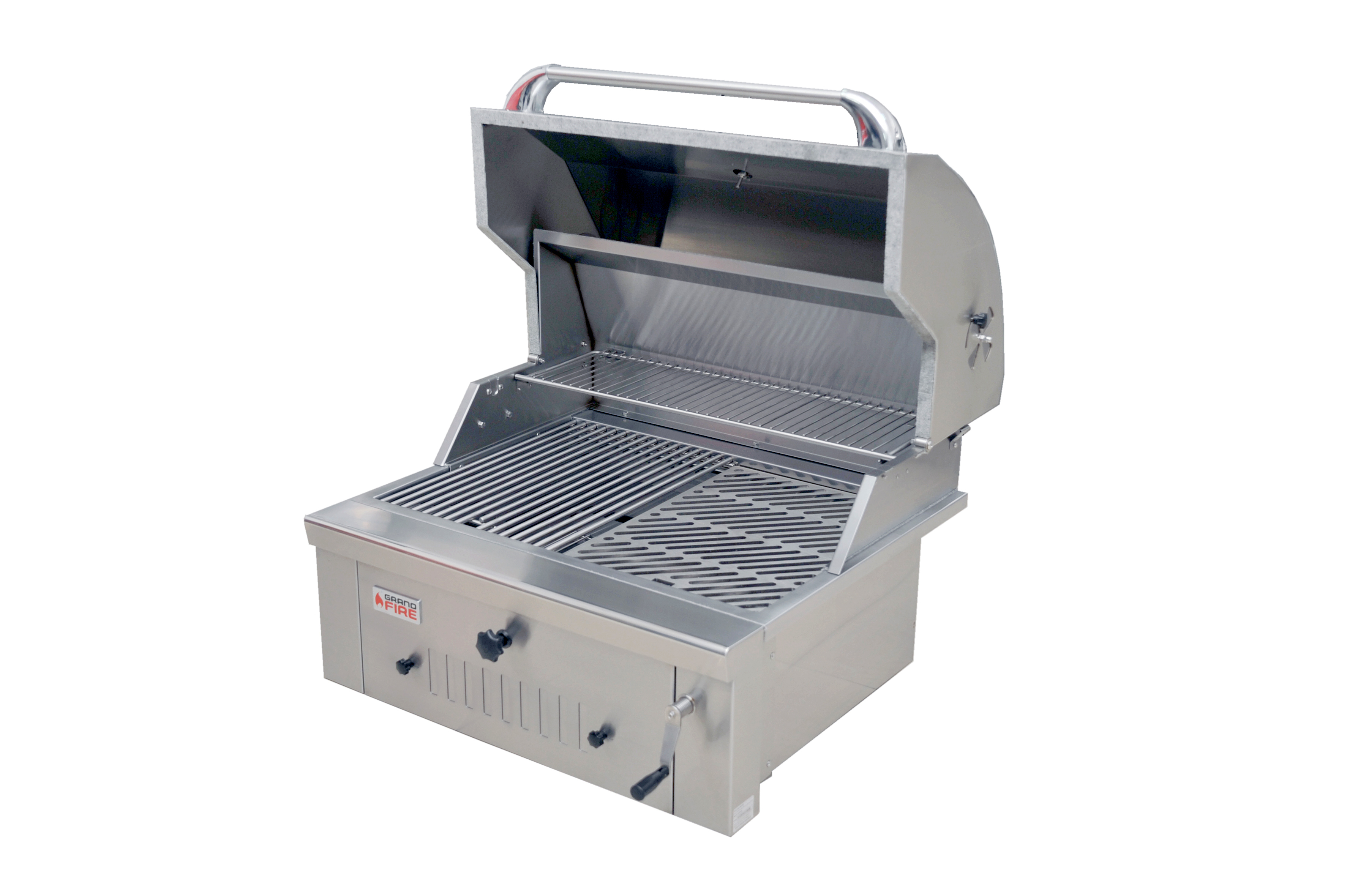 Grandfire Built-in Deluxe Series Charcoal BBQ